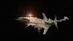 Space Ship 4K stock footage