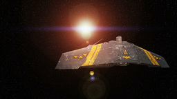 Space ship 4K Animation