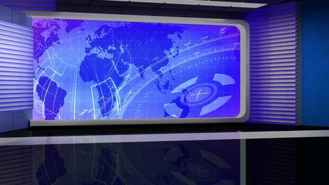 News TV Studio Set 116 - Virtual Background Loop ライブ動画