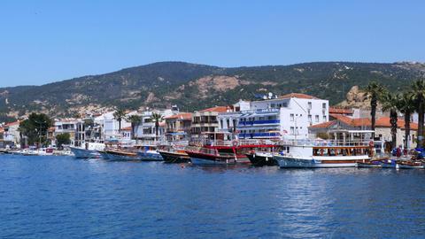 FOCA, TURKEY - MAY 2015: seaside summer travel destination Live Action