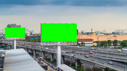 Advertising billboard green screen Live Action