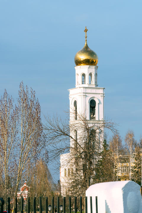 Belfry of the Church of St. Nicholas the Wonderworker of the Iversky Monastery Fotografía