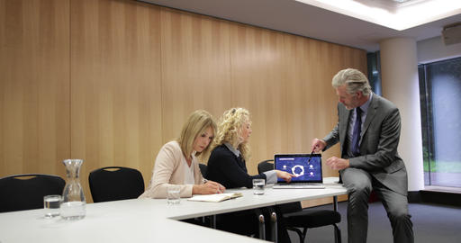 Informal corporate business meeting GIF