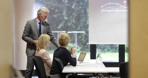 Senior business executive training staff Live Action