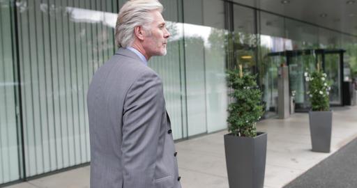Businessman arriving at hotel Footage