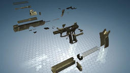 3D Animation Of Shooting From A Pistol Archivo
