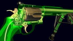 Alfa Para Handgun Revolver Traveling Macro Shots Sequence Archivo
