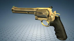 Alfa Para Handgun Revolver Traveling Macro Shots Sequence Footage