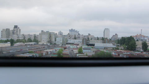 City from the Train Window GIF
