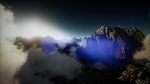 Aerial shot of mountain peak ビデオ