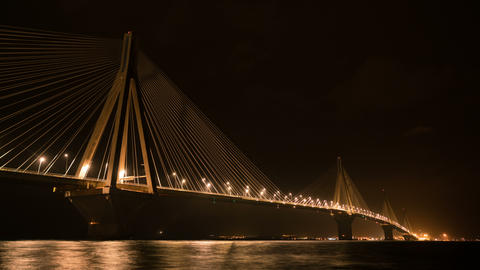 Charilaos Trikoupis Bridge, Patra, Greece Footage
