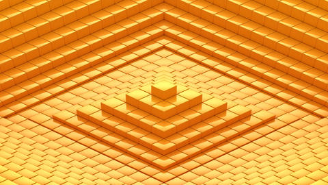 Rhombuses Formed A Wave GIF