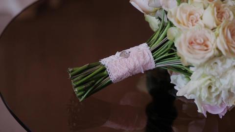 Wedding bouquet of beautiful flowers. Wedding flowers Stock Video Footage