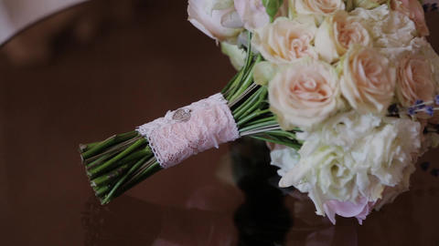 Wedding bouquet of beautiful flowers. Wedding flowers Live Action