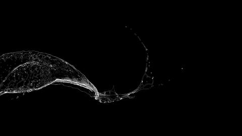 4k slow motion water splash isolated on a black... Stock Video Footage