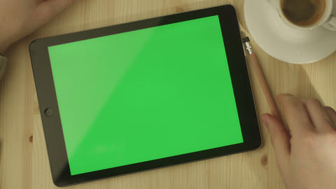 Tablet Green Screen 2 Footage