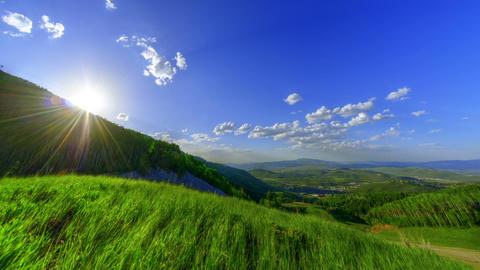 Vibrant Green Hills Footage