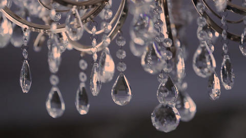 Crystal chandelier with beautiful design Footage