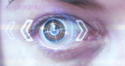 Futuristic Eye HUD / monitor ビデオ