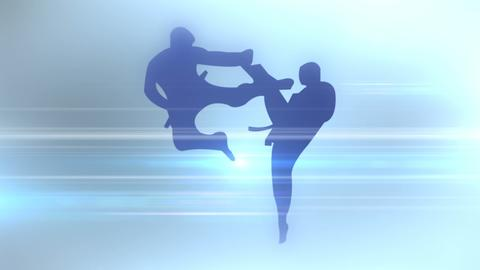 An abstract silhouette of sports discipline. 3D rendering フォト