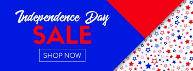 Independence day sale vector banner Vector