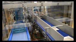 Vacuum Packaging of Processed Meat. Meat industry Footage