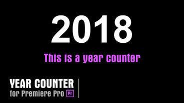 Year Counter [YearCounter01] Premiere Proテンプレート