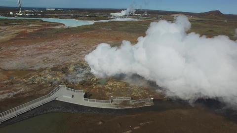Grindavik, Iceland- Gunnuhver Hot Springs 영상물