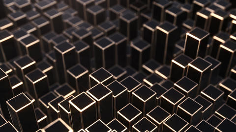 Background from black and golden squares Animation