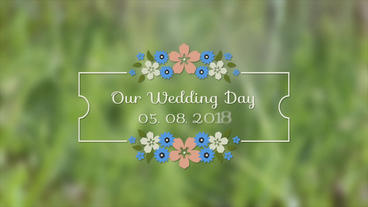 Romantic Flower Labels After Effects Template