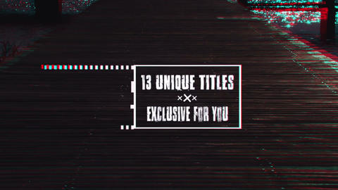 Ultimate Glitch Titles After Effects Template