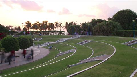 dubai jumeirah park time lapse from dubai city Footage