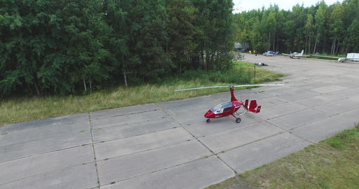Gyroplan Prepares For Takeoff 4k Footage