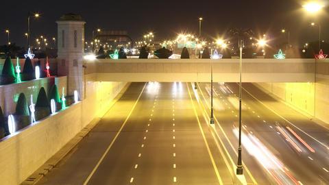 gold light traffic road 4k time lapse dubai city Footage