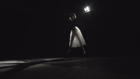 Ballerina Dances On The Tips Of The Toes 4k Footage