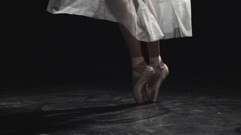Feet Of A Ballerina Dancing Footage