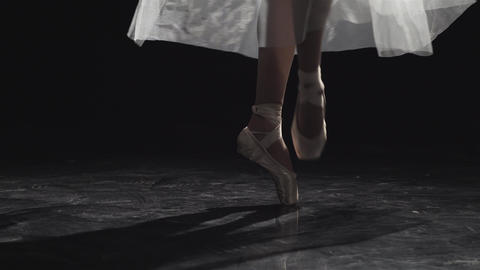 Ballerinas Feet Dancing On Pointe Footage