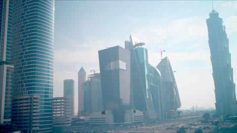sunny day time lapse from dubai business bay Footage