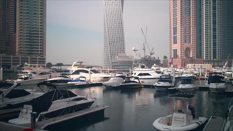 dubai marina gulf construction time lapse Footage
