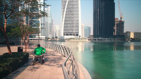 day life time lapse from dubai city Footage