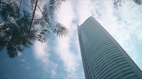 sky high time lapse from dubai city Footage