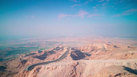 sunny mountain time lapse from al ain near dubai Footage