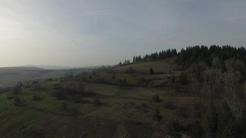 View Of Crna Rijeka Forest Mountains stock footage