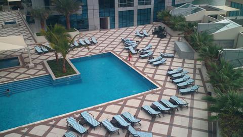 dubai apartment swimming pool 4k time lapse Footage