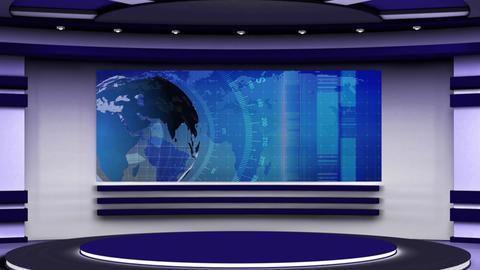 News TV Studio Set 139 - Virtual Background Loop Live Action