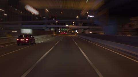 Timelapse - Hanshin Expressway circle track ( Soft focus ) ภาพวิดีโอ