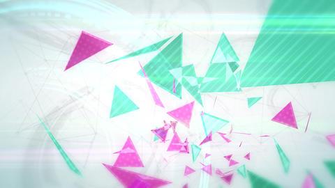 三角形のアブストラクト - スローモーション/カラーA CG動画