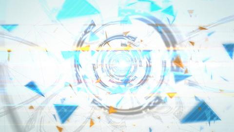 三角形のアブストラクト(ループ可能) - ズームイン/カラーC CG動画
