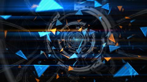 三角形のアブストラクト(ループ可能) - ズームイン/カラーD CG動画