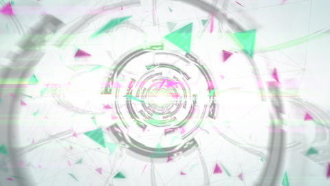 三角形のアブストラクト(ループ可能) - CG動画